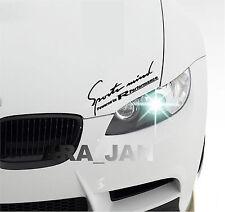 SPORTS MIND Powered by Racing Performance Vinyl Decal sport car sticker BLACK