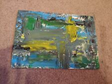Art painting abstract canvas original acrylic blue and white