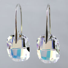 Moonlight Clear Crystal 925 Silver Earrings Made with Genuine Swarovski Element