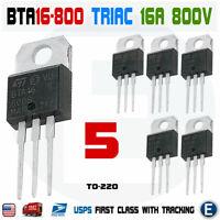 5PCS BTA16-800B Thyristor Triac 800V 16A TO-220 BTA16-800 High Voltage