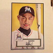 Ichiro Suzuki #1 Marlins #ed/49 Made 2015 Topps 5x7 GOLD 1952 Tribute Update