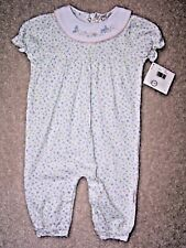 Girls - 6-9 Months - Baby Healthtex 1 Piece - White & Blue/Pink  - MSRP $20.00
