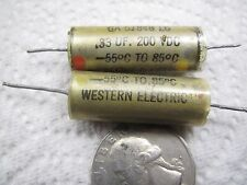 WESTERN ELECTRIC  0.33 uf 200V Low ESR   PAPER IN OIL CAPACITOR