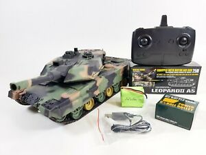 NEW heng long radio remote controlled Leopard 2A6 tank BB shooting 2.4G 1/24 RTR