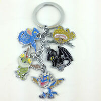 How to Train Your Dragon Metal Keychain Toothless Night Fury Gronckle 5 Figures