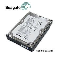 """DISCOS DUROS SATA 500GB 3,5"""" SEAGATE CON MUY POCO USO"""