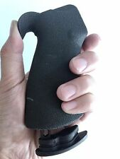 MADE IN USA! Soft Rubber Ergonomic Pistol Rear Grip w/Finger Grooves Storage