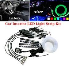 12V RGB LED Universal Car Decor Atmosphere Light Strip Wire Lamp Kit Optic Fiber
