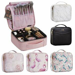 "10"" Travel Box Brush Cosmetic Case Storage Toiletry Organizer Make Up Carry Bag"