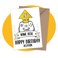 PERSONALISED BIRTHDAY CARD - Level Up! - personalized video game gamer gaming