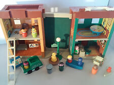 1974 Fisher Price Sesame Street Play set Down Town