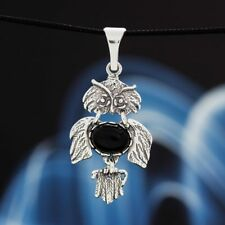 Onyx Silver 925 Pendant Sterling Silver Ladies Jewellery A244