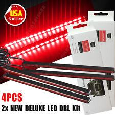 4 x Super Red Car High Power 18 LED Lights Waterproof 12V DRL Fog Driving Lamp