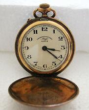 Big Round Men'S Chronometre Rego Pocket Watch A Fine Art Deco Pre Wwii Swiss
