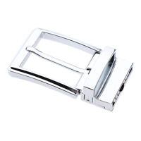 Reversible Belt Buckle Single Prong Rectangular Pin Buckle Replacement Men