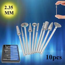 10Pcs Dental Sintered Diamond Point Polisher HP Shank Rotary Bur Set Lab 2.35mm