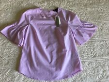 NWT J.Crew Button-back bell-sleeve top Sz 4 Neon Orchid G2264 Sold Out!