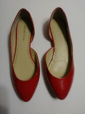 PREOWNED ADRIENNE VITTADINI RED ALL MAN MADE MATERIAL FLAT SHOES SIZE 10 AV-BEA