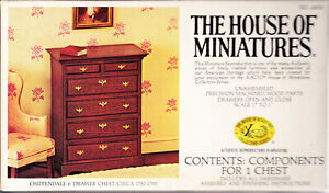 The House of Miniatures Chippendale 6 Drawer Chest Circa 1750-1790 Unused