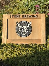 Stone Brewing Beer Bar Pub Man Cave Wood Sign  Mirror