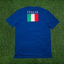 Emporio EA7 Armani T-Shirt Mens Italian Flag T-Shirt Special Edition Blue Large
