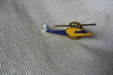 County Air Ambulance helicopter blue and yellow pin lapel badge,free u.k. p&p