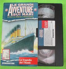 VHS film LA TRAGEDIA DEL TITANIC LE GRANDI AVVENTURE SUI MARI (F121) no dvd