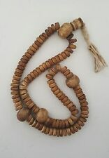 "Tibetan Buddhist Yak Bone/Conch Shell 108 Prayer Beads 20"" - Nepal"