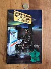 catalogue brochure ancien moto numéro 13 tour de france motocycliste militair