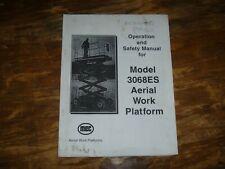 MEC 3068ES Scissor Lift Aerial Platform Boom Owner Operator User Manual