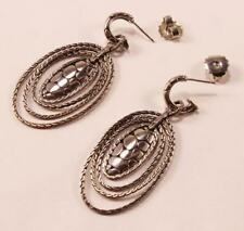 John Hardy 'kali' Oval Drop Earrings Sterling Silver