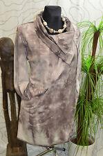 Jacke Mantel Batik Taschen Modern Edel Tulpen-Form Classics & More braun Gr. 46