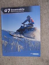 2007 Yamaha Snowmobile Apparel Accessories Color Promo Catalog MORE IN STORE  U
