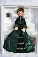 HOLIDAY CAROLER Barbie Doll Porcelain 1996 NRFB with shipper Mattel 15760