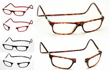 Reading Glasses with Magnetic Frame Hang round your neck Tortoiseshell +3 +3.00