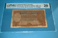 PMG Commonwealth of Australia 10 Shilling Banknote ND(1939) p25a VF20