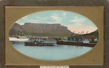 CAPE TOWN( South Africa) : Cape Town Docks & Table Mountain showing R M Steamer