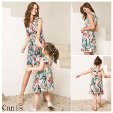 Mother y Daughter Juego Fiesta Vestido Entallado Mommy & me familia prendas de vestir Conjunto Set