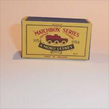 Matchbox Lesney 54 a Saracen Army Truck Repro B style Box