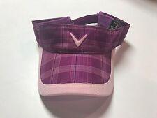 Callaway Purple Plaid Lightweight Ladies' Golf Visor