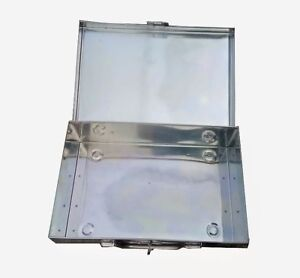 26 CM Stainless Steel Currency,Jewelry, Document Box Multi Purpose Use Box 1 PC