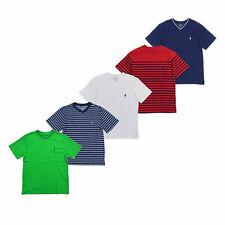 Polo Ralph Lauren мальчиков футболка с коротким рукавом V-образным вырезом детский повседневный топ новый с ценниками Prl