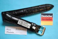 Louisiana Crocodile Calfskin Watch Band 17mm Black Deutscher Hersteller