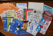 31 Vintage 1990s amateur football programmes job lot Bitton WSM Yeovil Torquay +