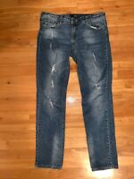 KUT from the Kloth Catherine Boyfriend Jeans Womens Size 10 Distressed Destroyed