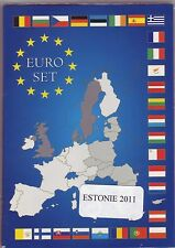 EURO  ESTONIE 2011 SERIE COMPLETE 1 C A 2 € AUTHENTIQUE
