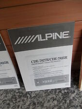 CDE-7827R/CDE-7825R, Alpine, FM/MW/LW/RDS Compact Disc Receiver