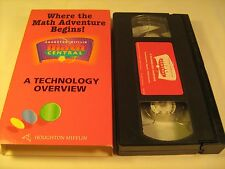 Rare VHS Tape WHERE THE MATH ADVENTURE BEGINS! A Technology Overview 1997 [Z15a]