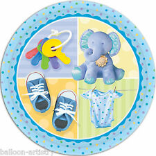 "8 Adorabile Teeny BLUE BOY Baby Shower Compleanno Grande 9 ""Piatti Di Carta"