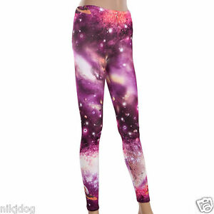 Womens Galaxy Leggings Sexy Chic Stretch Pants Eight Styles to Choose From